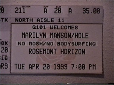 1999-04-20 Chicago, IL - Rosemont Horizon Screenshot 2